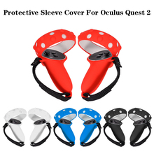 Protective Cover For Oculus Quest 2 VR Touch Controller Silicone Cover Skin Handle Grip For Oculus Quest 2 VR Accessories