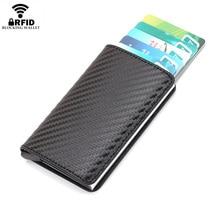 Dollar Wallet Cash-Holder Pocket Money-Case Purses Billfolds Rfid-Card Carbon-Fiber Male