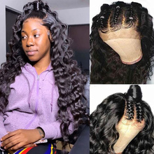 Loose Deep Wave Wigs Lace Front Human Hair Wigs Peruvian Pre Plucked Transparent Lace Wigs For Black Women Remy Hair Wig