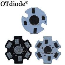 10-1000 sztuk 1W3W5W radiator LED aluminiowa płyta bazowa płytka drukowana podłoże 20mm gwiazda 16mm zestaw DIY chłodzenie 20mm dla 1 3 5 W wat