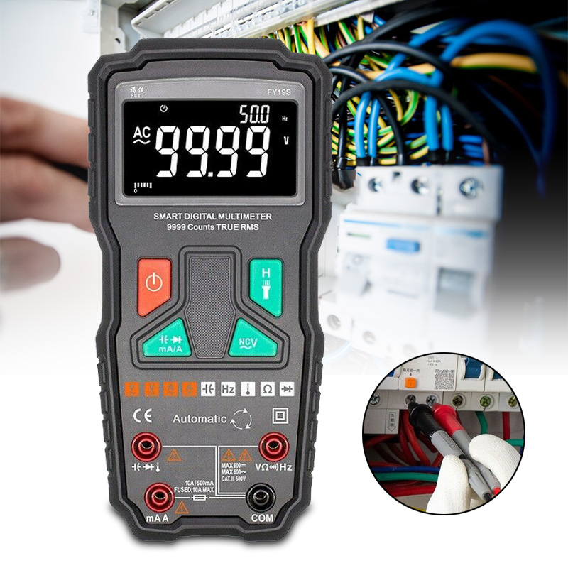 High Speed Intelligent Digital Multimeter Count Test Tool 9999 Counts Multi Meter Y19S FKU66