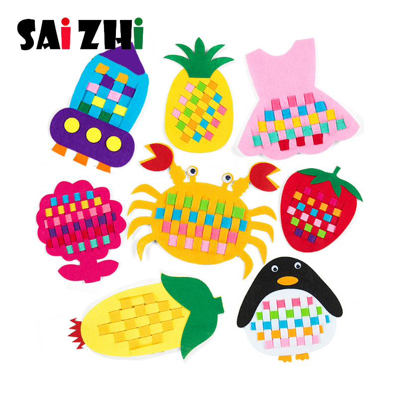 Saizhi DIY Weave Cloth Early Learning Handmade Crafts Toy Kindergarten Manual Teaching Baby Educational Toys Gifts For Children