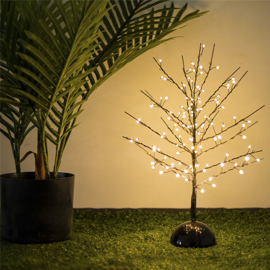 Thrisdar 114LED 19 Tree Branch Light Tree Plant Copper Wire Fairy String Light Christmas Holiday Wedding Bedroom Tree Table Lamp
