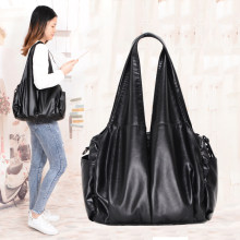 2019 Pu Hobo Luxe Top-Handvat Dames Handtas Vrouwen Schoudertassen Soft Messenger Satchel Bags Leather Casual Tote Sac een Belangrijkste(China)