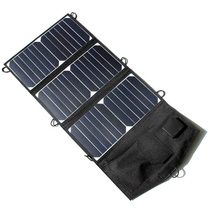 Solar Panel Folding Waterproof 21W 5V Solar Cells Charger Mobile Power Portable Battery Efficient USB Output for Camping Hiking
