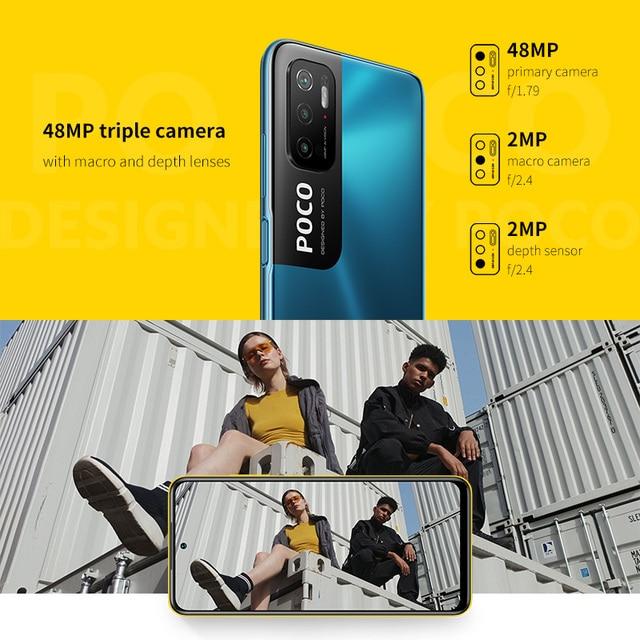 POCO M3 Pro 5G Global Version NFC Smartphone 4+64/6+128 Dimensity 700 Octa Core 90Hz FHD+DotDisplay 5000mAh 48MP Triple Camera 5