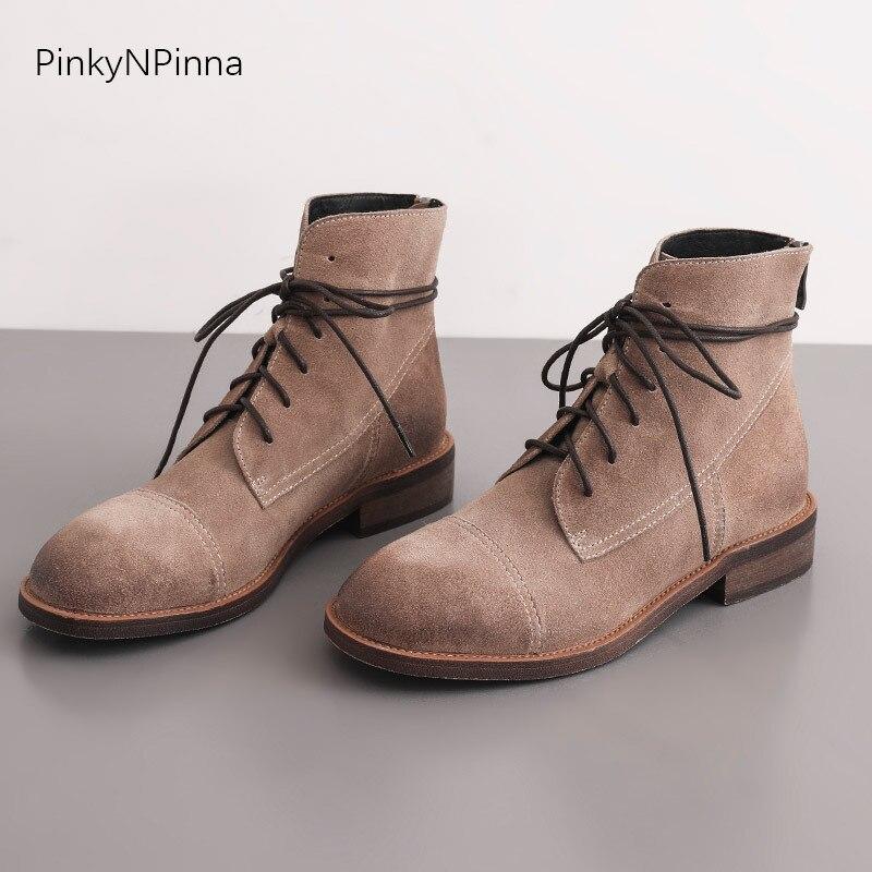 2019 bottes en peau de vache femme bottes courtes bottes basses avec des chaussures pour femmes