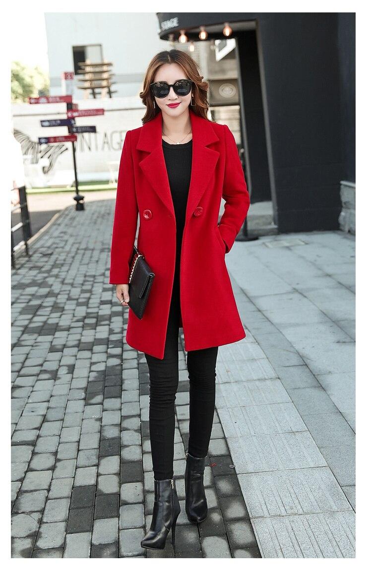 YICIYA Winter autumn Coat Women Wool Jacket Long Oversized Coats Plus Size Large Black Blend Woolen Warm Outerwear 2019 Clothing 26