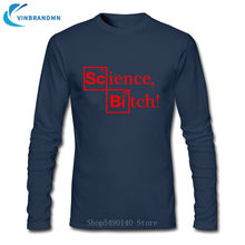Summer Hipster Adult Shirt Newest Arrival Science Bitch Men Tshirt Breaking Bad Heisenberg Jesse Pinkman Walter Season Top Homme(China)