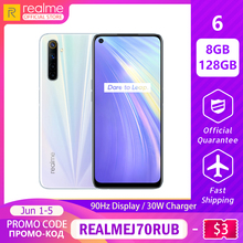 realme 6 8GB RAM 128GB ROM Global Version Mobile Phone 90Hz