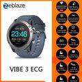 Zeblaze VIBE 3 ЭКГ Смарт часы мужские спортивные Шагомер монитор сна Поддержка 11 языков IP67 Smartwatch цветной дисплей Android IOS