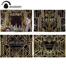 Allenjoy גטסבי הגדול רקע בציר גברת מכונית יום הולדת שמח רקע Photozone זהב לוקסוס למבוגרים אירוע מסיבת באנר