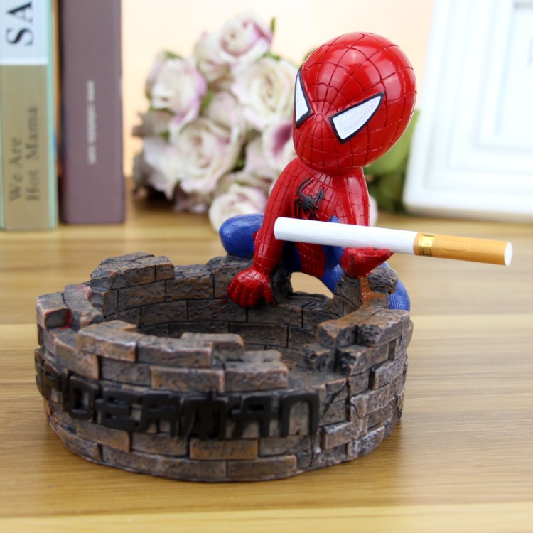 [TML] çok benzersiz süper hero örümcek küllük şekilli kalıp çay masası masa ev dekorasyon heykeli reçine el sanatları hediye
