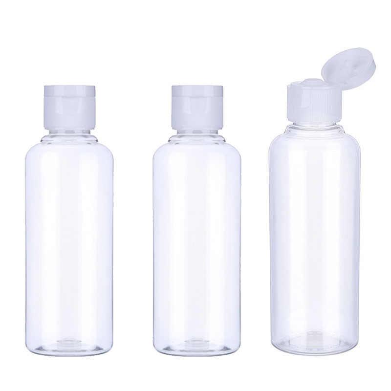 20 adet 10/30/50/60/100ml plastik şampuan şişeleri plastik şişeler seyahat konteyner kozmetik losyon