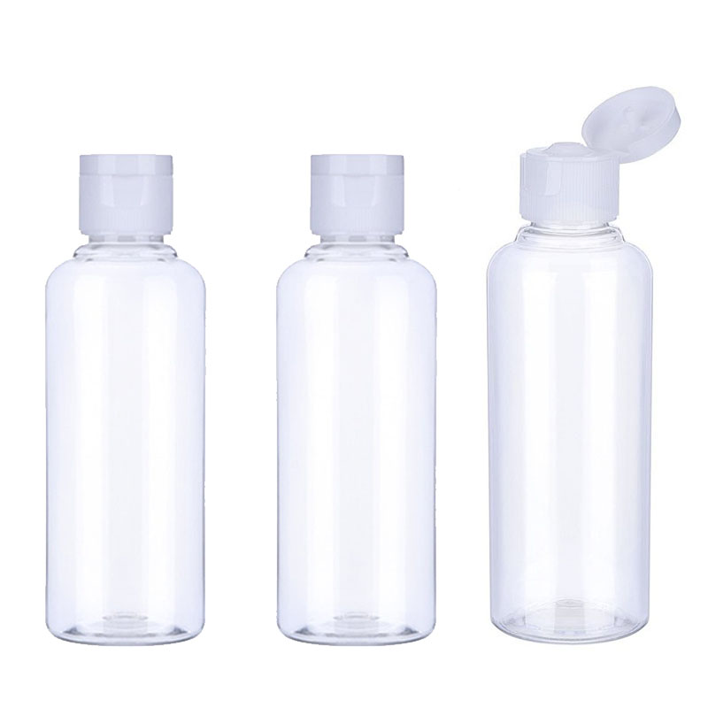 20Pcs 10/30/50/60/100ml Plastic Shampoo Bottles Empty Vail for Travel Container Cosmetics Lotion