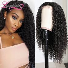 Бразильский кудрявый парик Longqi, натуральные волосы Remy, парик на сетке, плотность 150%, бразильские кудрявые волосы, парики для женщин, человеч...