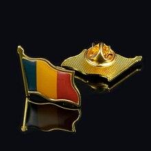 Romania Beautiful Waving Flag Brooch Pin Men/Women Jewelry Accessories