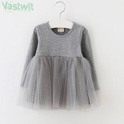 2021 для маленьких девочек платье с длинными рукавами на осень, 1st платье на день рождения для детей в возрасте от 1 года, одежда с длинными рука...