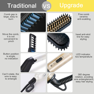 Image 5 - ANLAN Hair Straightener Comb Durable Electric Straight Hair Comb Brush Heated Ceramic Hair Straightening  Electric Brush EU US