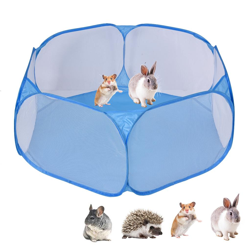 Portable Animal Folding Fence Pet Playpen Animals Cage Tent Outdoor Indoor Exercise Fence Support Dropshipping Wholesale