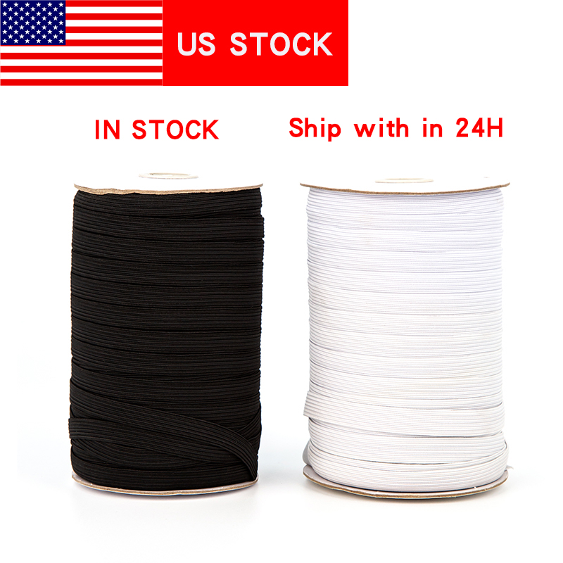 250Yard Elastique Couture 3mm 6mm Elastic Band Rope Sewing Sleeve Narrow Side Elastic Hanging Ear Band Elastic For DIY Mask