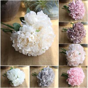 5 Heads/bunch Peony artificial flower Bouquet Wedding Decoration Silk Flower Valentine's Day Party home DIY Decoration Crafts