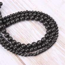 Wholesale Black Turquoise  Natural Stone Beads Round Beads Loose Beads For Making Diy Bracelet Necklace 4/6/8/10/12MM