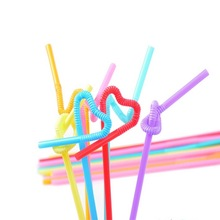 100pcs Flexible Drinking Straw Food Grade Colorful Extra Long Disposabl Straws Cocktail Plastic PP Straws