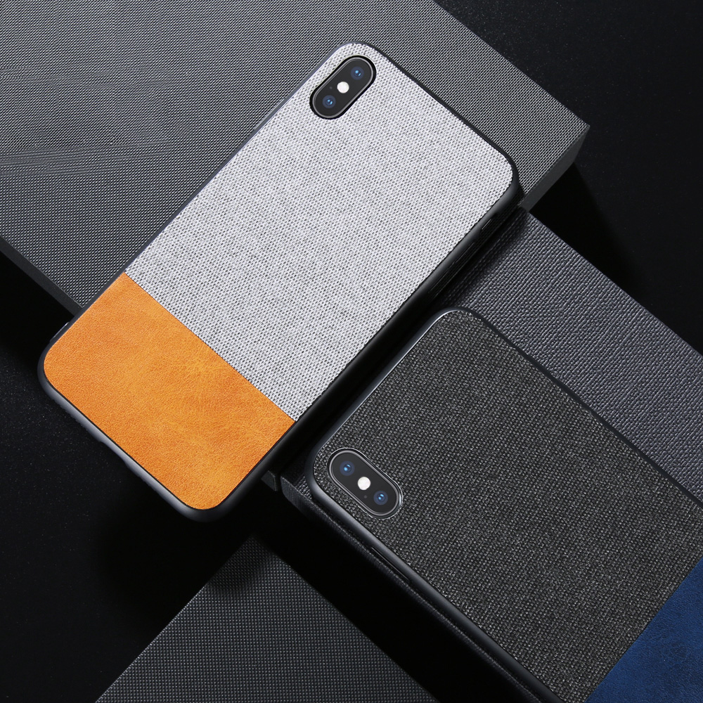VIAERSON Cloth Skin Case For iPhone X XR XS MAX Luxury Soft TPU Cover For iPhone 8 7 6 6s Plus Mobile Phone Bag Case Coque Funda