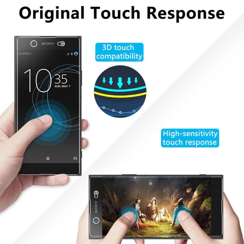 Vidro protetor de tela para smartphone, 2 peças 9h vidro temperado resistente para sony xperia xz3 xz2 xz1 compact xz premium para sony xzs