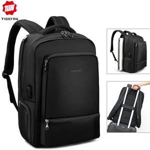 Image 1 - Tigernu Water Repellent Nylon Anti theft 22L Men 15.6 inch Laptop Backpack bag USB Charging Travel Male Mochila Solid Schoolbags