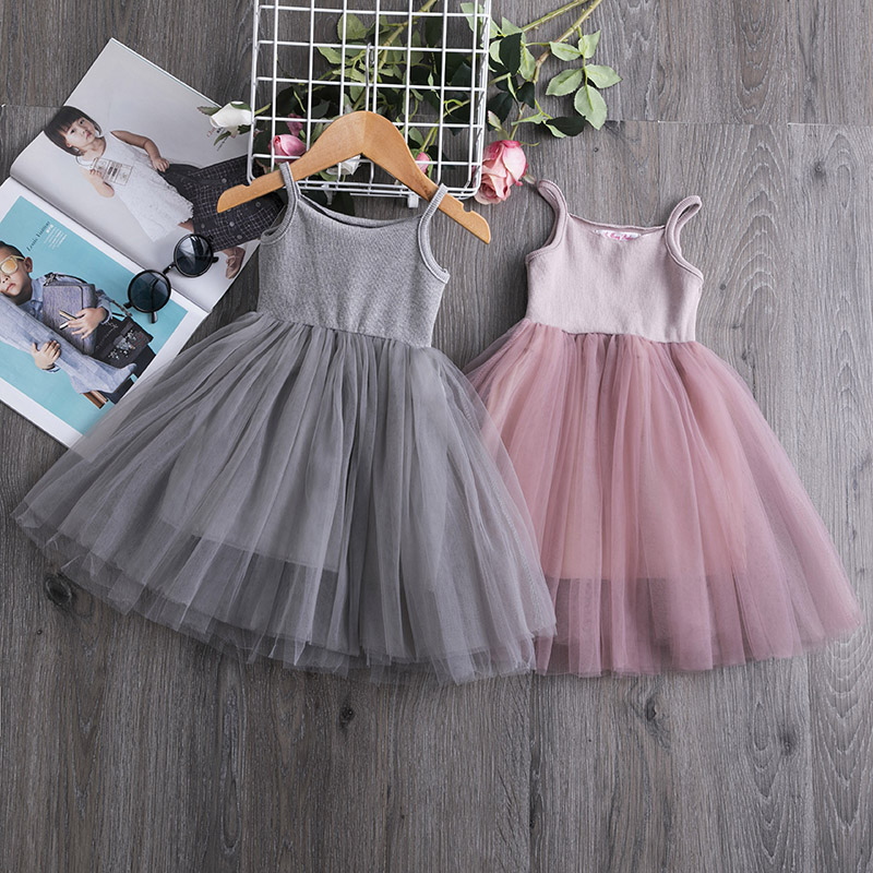 Summer Kid Girls Dress Princess Hot Sales Toddler Baby Party Tutu Dress Lace Flower Dresses Casual Children Clothes 3-8 Years
