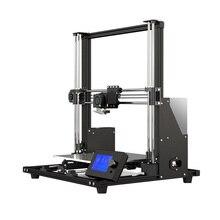Anet A8 Plus yükseltilmiş yüksek hassasiyetli DIY 3D yazıcı kendinden montajlı büyük baskı alüminyum alaşımlı çerçeve hareketli LCD kontrol paneli