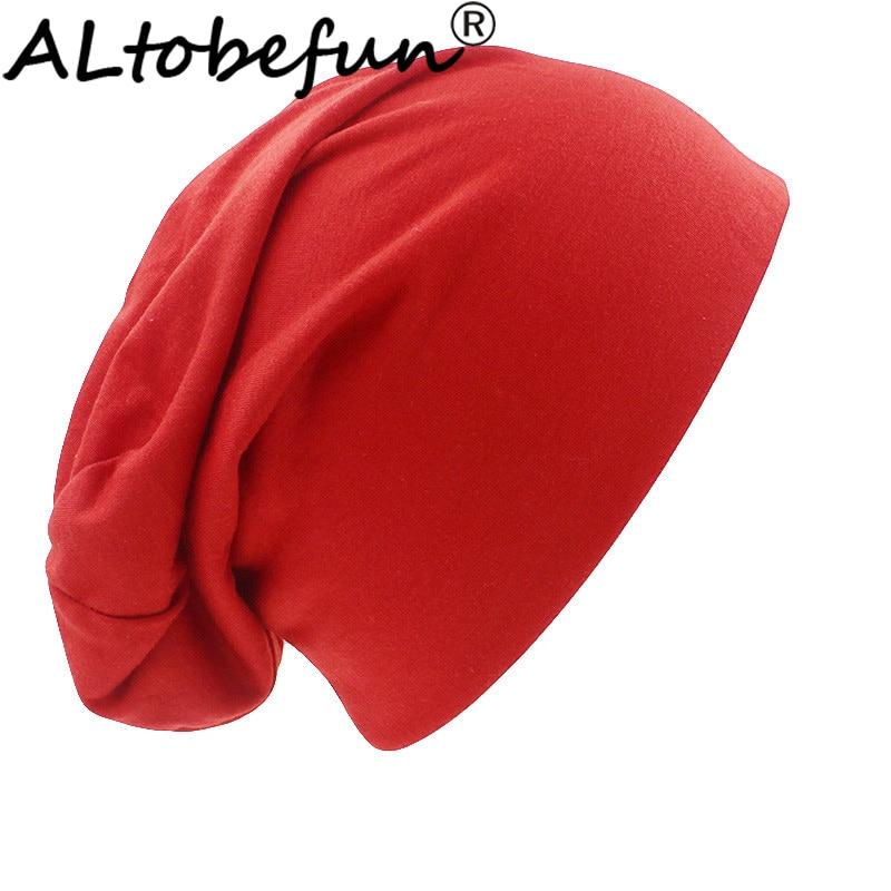 ALTOBEFUN Skullies And Beanies Men Hat Unisex Fashion Brand Autumn And Winter Hats For Women Solid Design Lady Thin Hat BHT029B