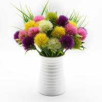 5 Pieces Plastic Dandelion Household Products Vases for Home Decor Wedding Bridal Accessories Clearance Cheap Artificial Flowers
