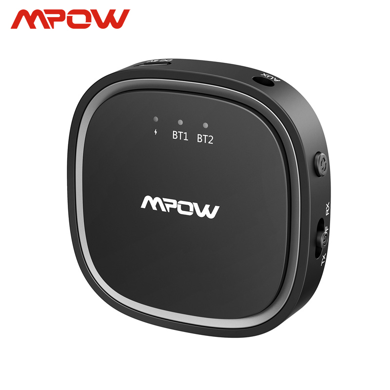 Mpow Bluetooth 5.0 Audio Receiver Transmitter 2 In 1 APTX HD APTX Low Latency 3.5mm Audio Adapter For TV Headphones PC Speaker