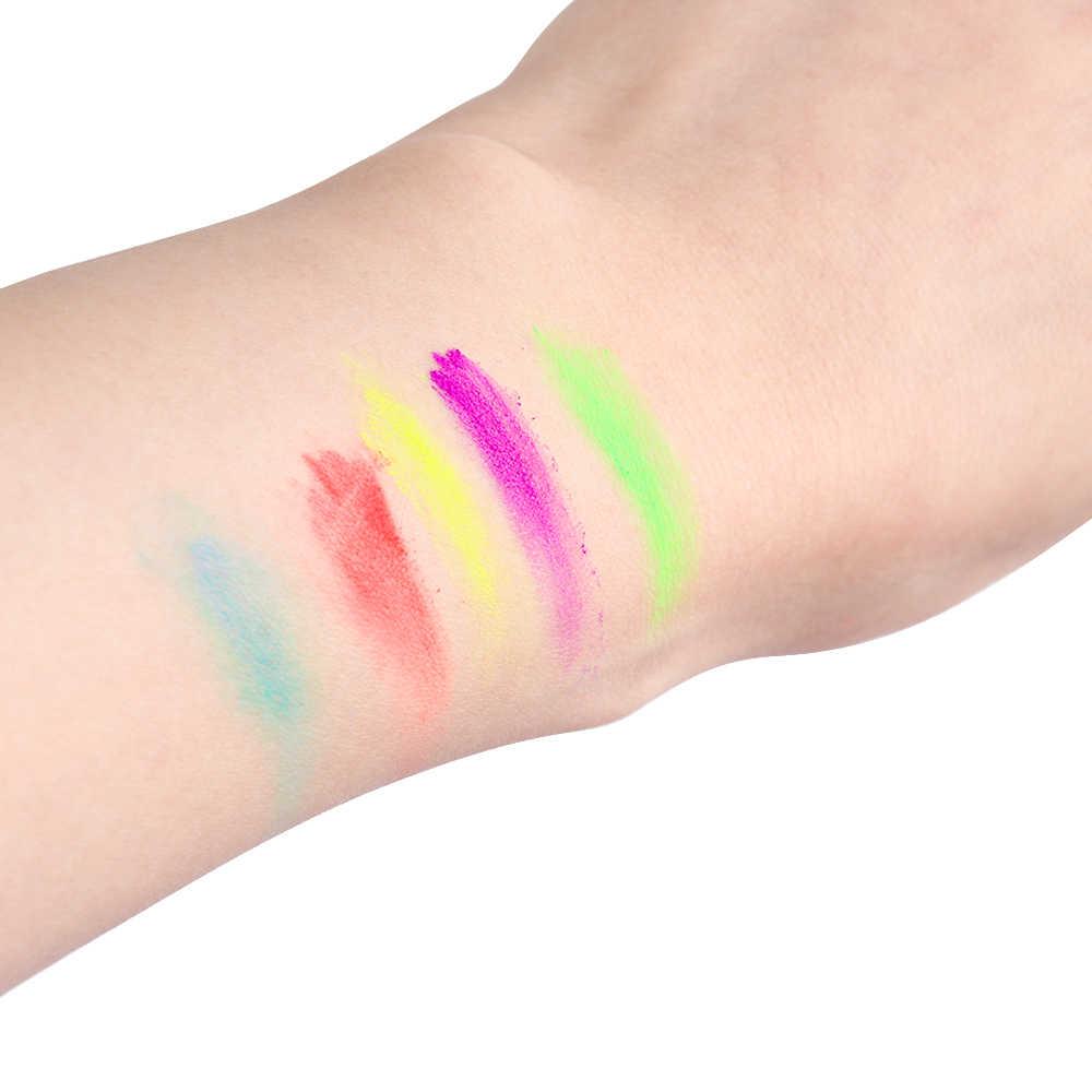 7 colores de neón polvo suelto sombra de ojos pigmento mate Mineral esprangle uñas maquillaje brillo moda sombra de ojos