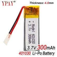 цена на 3.7V 300mAh 401030 Lithium Polymer Li-Po li ion Rechargeable Battery For MP3 MP4 MP5 GPS DVD tablet Bluetooth camera Lipo cell