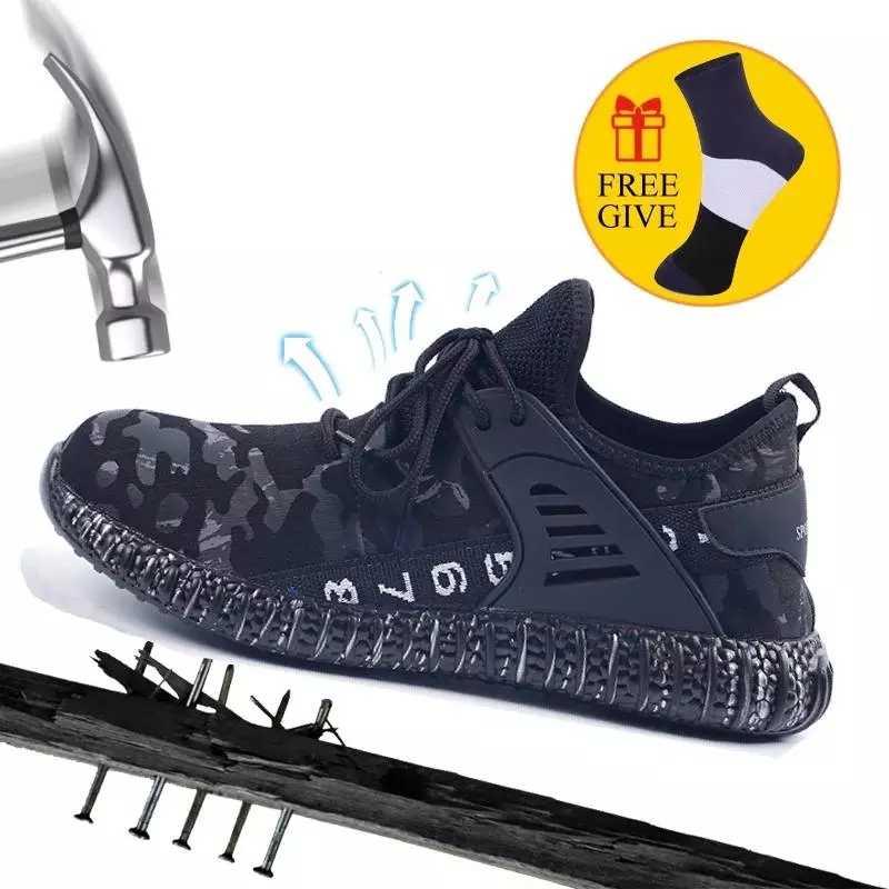 חורף גברים בתוספת קטיפה בטיחות לעבוד נעלי מגפי אור משקל פלדה הבוהן מגפי זכר אנטי לנפץ בנייה בטיחות סניקרס