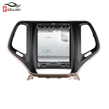 Android car DVD player For Jeep Cherokee 5 KL Tesla Style Screen 2013-2018 Car Radio Multimedia Video Player GPS Navigation image