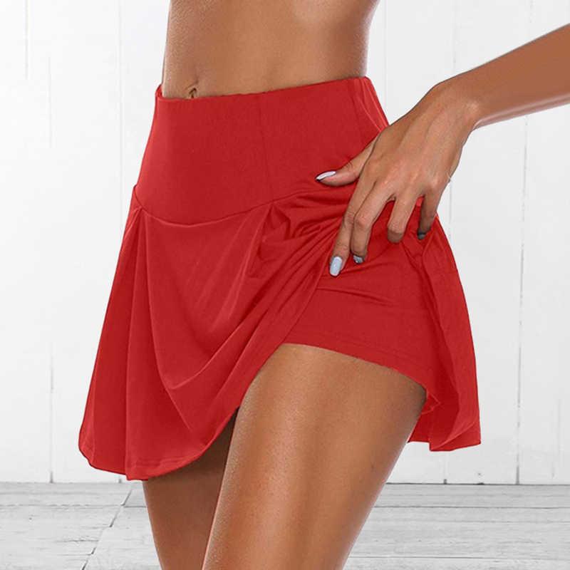 2020 Tennis Röcke Sport frauen Hohe Taille Plissiert Kurzen Kleid Badminton Volleyball Läuft Jubeln Strand Dance Sicherheit Skorts