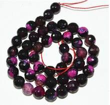 Fink – perles rondes en Agate de feu multicolores, 8mm, 15 pouces, en vrac