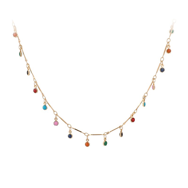 Hb3636f1033a5411e93f719f1434eefc1X - Tocona Fashion Gold Necklace for Women Charming Colorful Stone Chain Chockers Handmade Party Jewelry Wholesale collares B31203