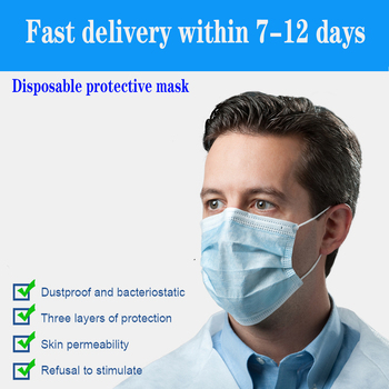DHL 500pcs Face Mask Disposable Anti-Pollution 3 Layers Protection Face Mouth Masks Nonwoven Disposable Mask Hygiene Mask