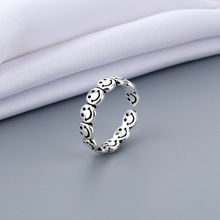 Retro Silver Color Ring Trend Opening Ring Punk Men's Ladies Party Adjustable Best Friend Gift Jewelry Accessories BFF 2021