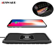 C3 Car QI Wireless Charger Pad for iPhone 11 XS MAX Samsung S10 5G Plus Quick Wireless Charger Car 10W 7.5W