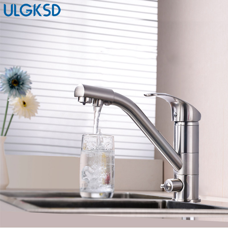 Kitchen Faucet Purified Water Purification Faucets Deck Mount Mixing Valve Mixer Taps Para sinks Kitchen vessel sink faucet