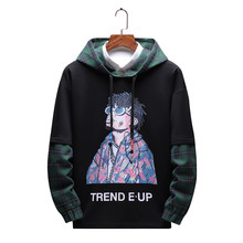 Autumn Spring 2019 Hoodie Sweatshirt Mens Hip Hop Punk Pullover Streetwear Casual Fashion Clothes Plus Asian Size streetwear(China)