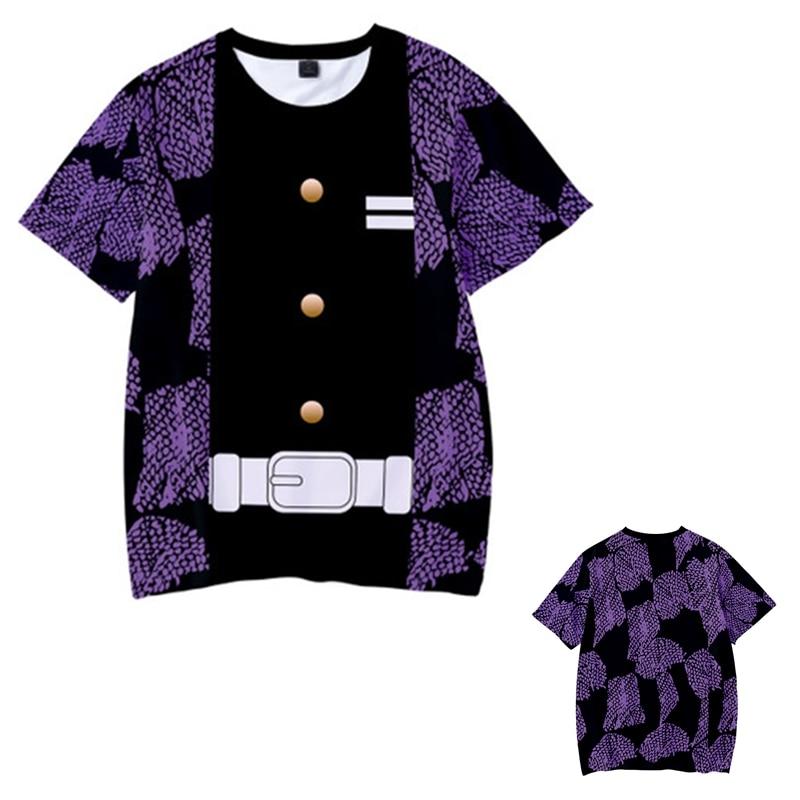 Kids Boys Devils killer T-shirts 3d Print Cosplay Japanese Ghost blade Children Summer Short Sleeve Tshirts Demon Slayer Clothes 11
