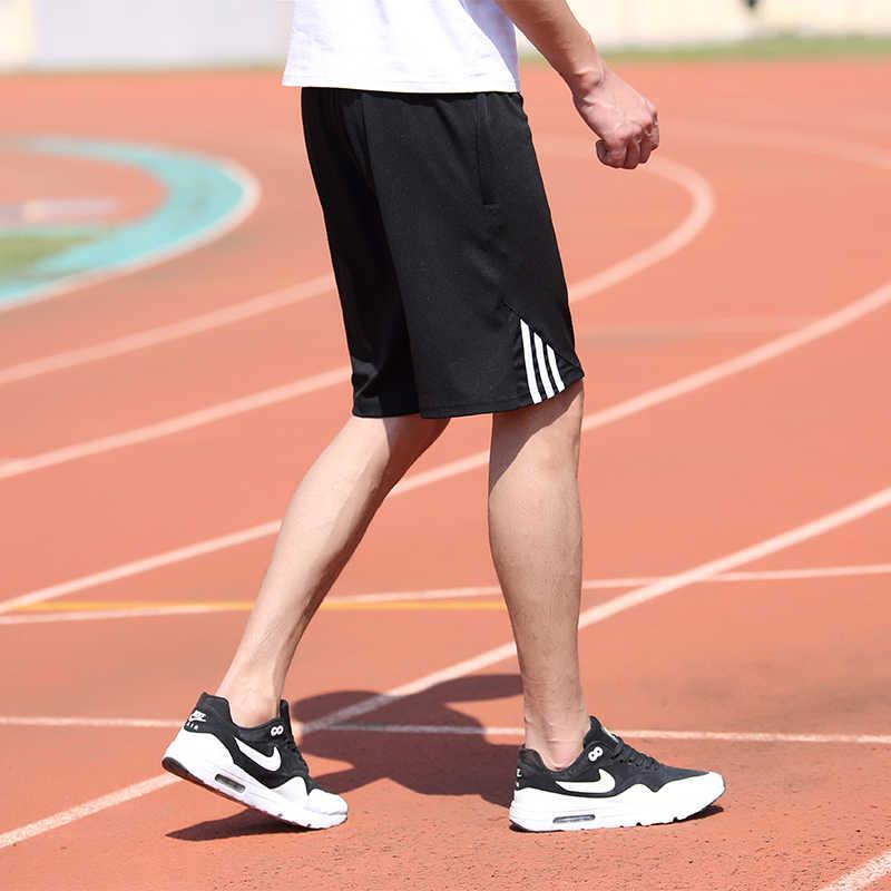 M-7XL Plus rozmiar letnie spodenki plażowe męskie ćwiczenia w pasie Sim Fit stałe kolano długość bermudy Masculina szorty w kratę